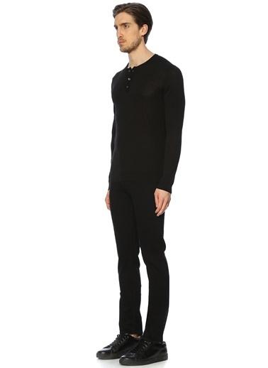 Roberto Collina Düğmeli Uzun Kollu Tişört Siyah